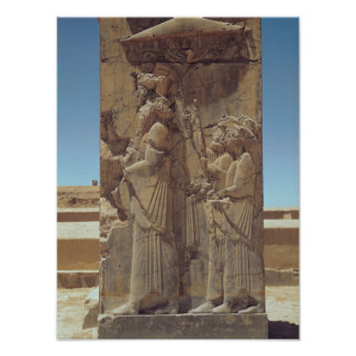 Alivio que representa Xerxes I con dos asistentes Poster