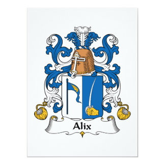Alix Family Crest Card