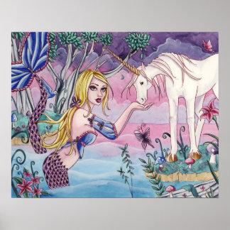 Aliya - Mermaid & Unicorn Poster