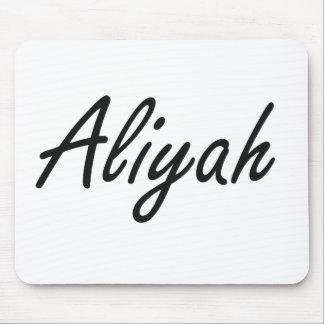 Aliyah artistic Name Design Mouse Pad
