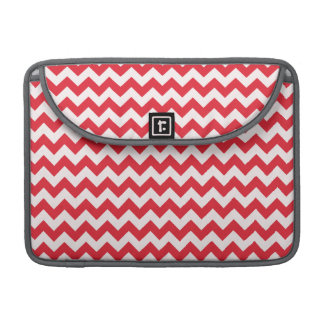 Alizarin Crimson Chevron; zig zag MacBook Pro Sleeve