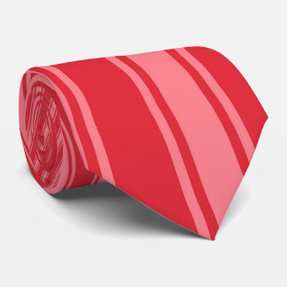 Alizarin crimson Color Stripe Funky Pattern Tie