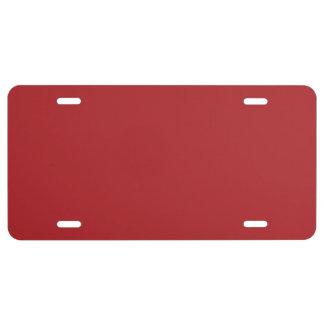 """""""Alizarin Crimson"""" License Plate"""