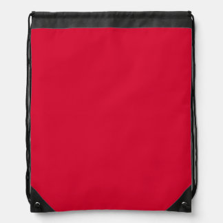 ALIZARIN CRIMSON RED (solid color ) ~ Drawstring Backpack