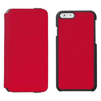 ALIZARIN CRIMSON RED (solid color) ~ iPhone 6/6s Wallet Case