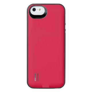 ALIZARIN CRIMSON RED (solid color) ~ iPhone SE/5/5s Battery Case