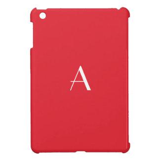 Alizarin Red Monogram iPad Mini Case