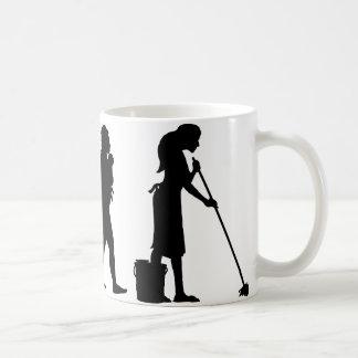 Aljofifar el piso taza de café