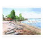 Alki Beach Bathhouse Postcard