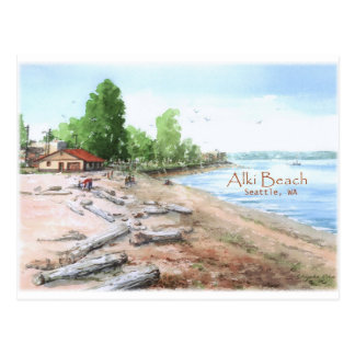 Alki Beach Bathhouse Postcard