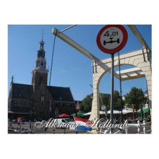 Alkmaar Weighing House Drawbridge Holland Postcard