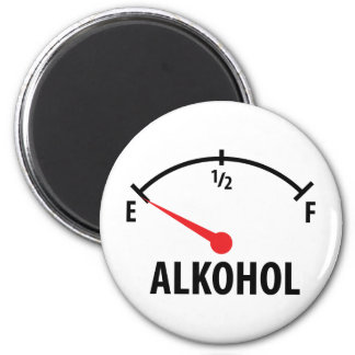 Alkohol Anzeige leer icon 2 Inch Round Magnet