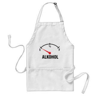 Alkohol Anzeige leer icon Adult Apron