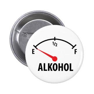 Alkohol Anzeige leer icon Pinback Button