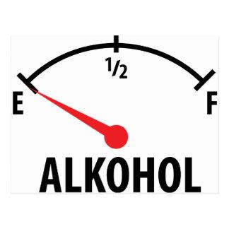 Alkohol Anzeige leer icon Postcard