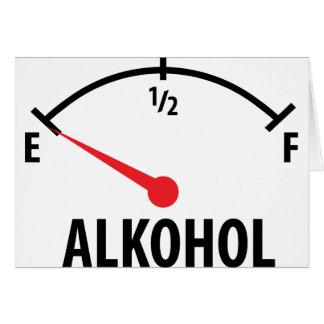 Alkohol Tankanzeige Card