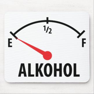 Alkohol Tankanzeige Mouse Pad