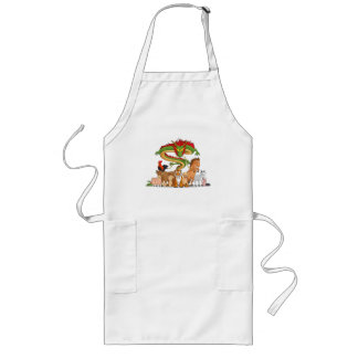 All 12 Chinese Zodiac Animals Together Long Apron