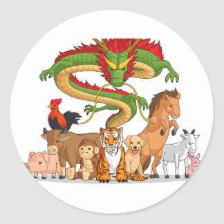All 12 Chinese Zodiac Animals Together Sticker