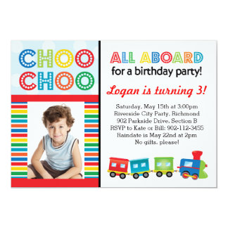 All Aboard Choo Choo Train Invitation