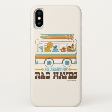 All Aboard for Rad Waves iPhone X Case
