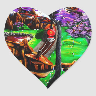 All Aboard Heart Sticker