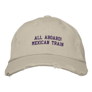 ALL ABOARD MEXICAN TRAIN - HAT EMBROIDERED BASEBALL CAPS