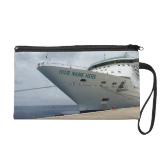 All Aboard Name on Bow Wristlet Purse