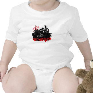 """""""All Aboard"""" Painted Baby T Shirt"""