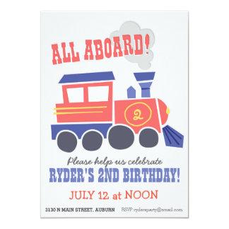 All Aboard Party Invite
