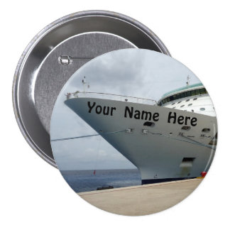 All Aboard Personalized 3 Inch Round Button