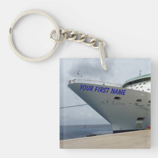 All Aboard Personalized key chain