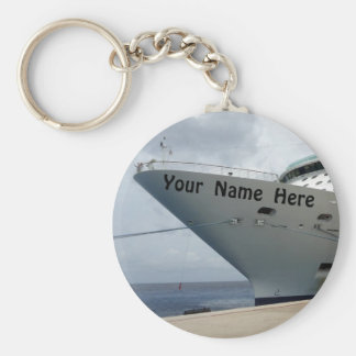 All Aboard Personalized Keychain