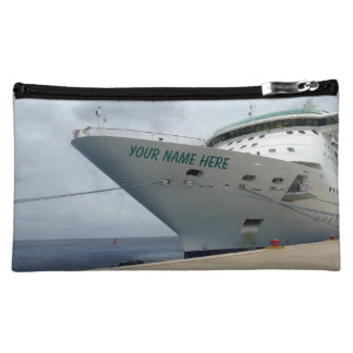 All Aboard Personalized Medium Cosmetic Bag