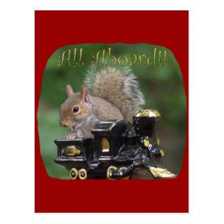 """All Aboard!"" ... Postcard"