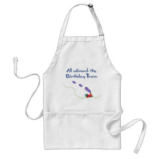 All Aboard the Birthday Train Adult Apron