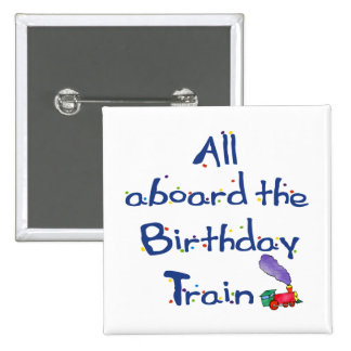 All aboard the Birthday Train Button