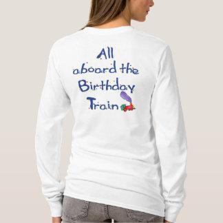 All aboard the Birthday Train Shirt back