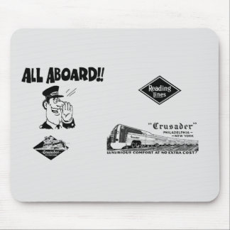 All Aboard The Reading Railroad Crusader Mouse Pad