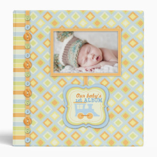 All Aboard! Train Baby Memory Book 3 Ring Binder