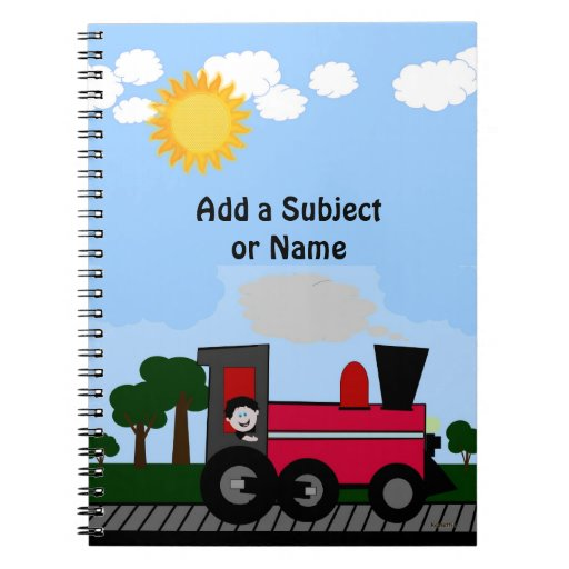 All Aboard Train Notebook