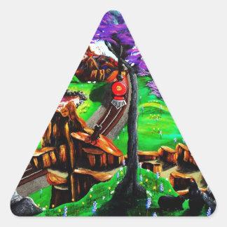 All Aboard Triangle Sticker