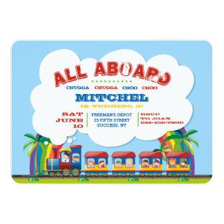 All Aboard Tropical Train Invitation