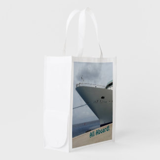 All Aboard Two Sided Grocery Bag