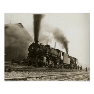 All Aboard Vintage Train Print