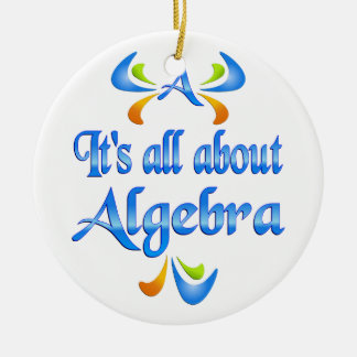 All About ALGEBRA Christmas Ornament