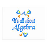 All About ALGEBRA Post Card