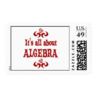 ALL ABOUT ALGEBRA POSTAGE STAMP
