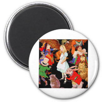 ALL ABOUT ALICE IN WONDERLAND 2 INCH ROUND MAGNET
