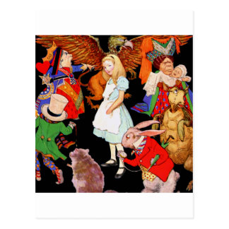 ALL ABOUT ALICE IN WONDERLAND POSTCARD